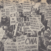 CWA SOLIDARITY DAY SEPT 19 1981 AGAINST THE REAGAN ADMINISTRATION SOCIAL AND ECONOMIC POLICIES