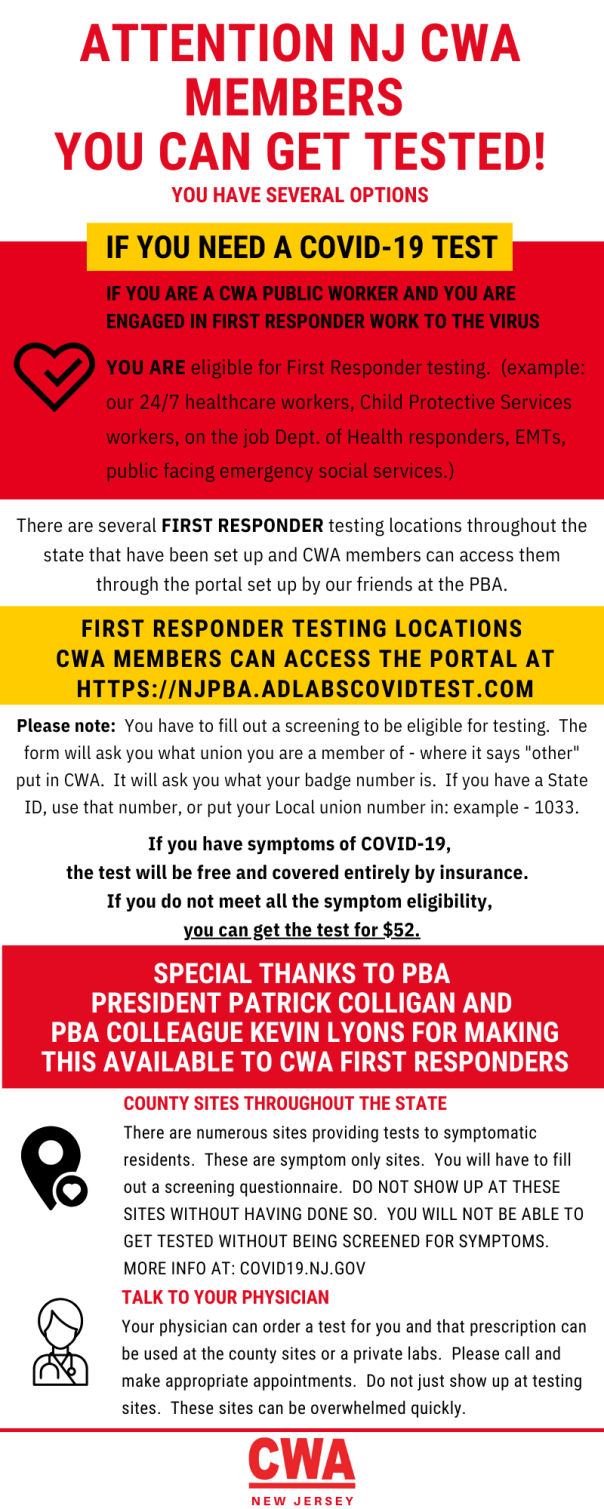 COVID19 FIRST RESPONDER TESTING LOCATIONS Draft
